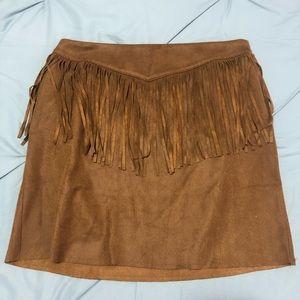 Dresses & Skirts - Brown fringe skirt
